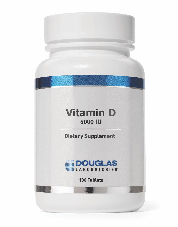 Douglas Laboratories® - Vitamin D (5,000 I.U.) - Vitamin D3 Health Supplement - 100 Tablets
