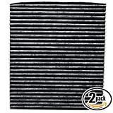 2 Pack - Cabin Air Filter P8790-1F200A with Activated Carbon Replacement for Kia, Hyundai - Compatible with 2005 Kia SPORTAGE, 2012 Kia RIO, 2013 Kia RIO, 2014 Kia RIO, 2006 Kia RIO, 2008 Kia RIO