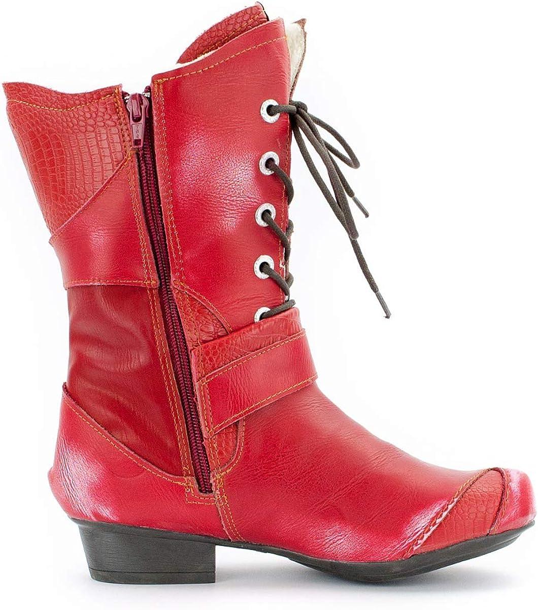 TMA Bizarre 8166 Scarpe Donna, Pelle, Colori Multipli, Taglie 36-42 EU Rosso