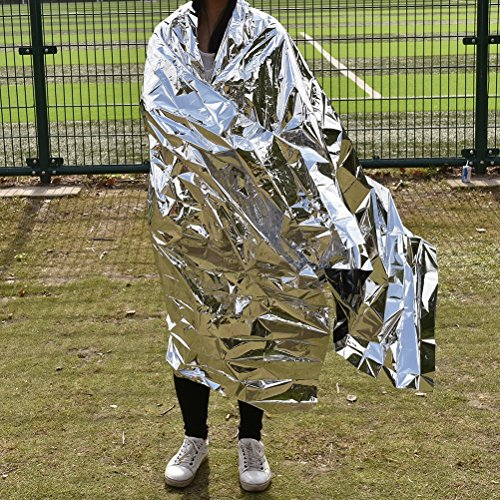 Emergency Mylar Thermal Blankets 59 inches x 87 inches (Pack of 10)