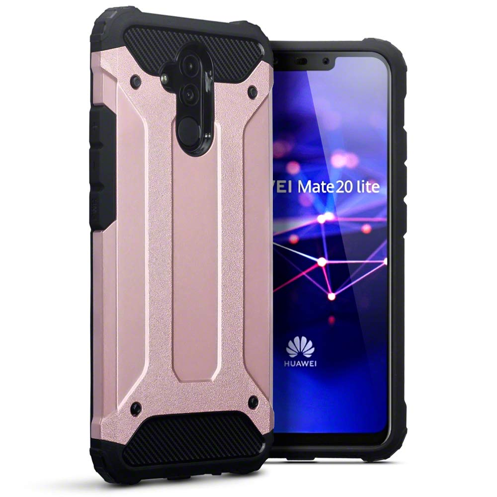wholesale dealer bb347 20ff5 TERRAPIN, Compatible with Huawei Mate 20 Lite Case, Double Layer Impact  Resistant - Rose Gold