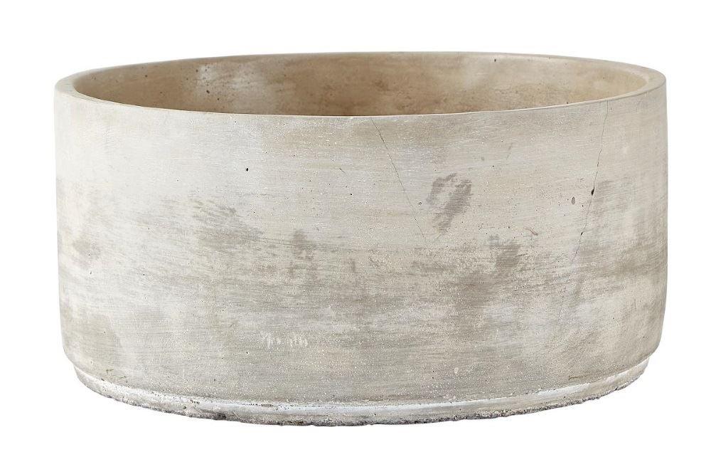 Villa Collection Denmark Indoor Cement Round Bowl Planter Flower Plant Pot