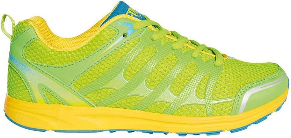 Crivit Sports - Zapatillas de Atletismo de Material Sintético para Mujer grün,Gelb,Blau: Amazon.es: Zapatos y complementos