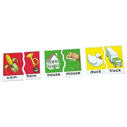 Amazon.com: Didax DD-2607 Basic Skills Puzzles Rhyming Words: Toys ...