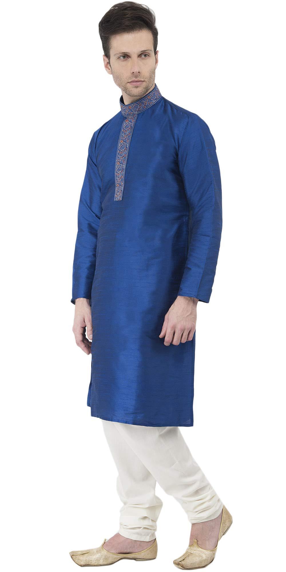 Indian Long Sleeve Kurta Pajama Dress Men Salwar Kameez Party and Wedding Wear -XL by SKAVIJ (Image #4)