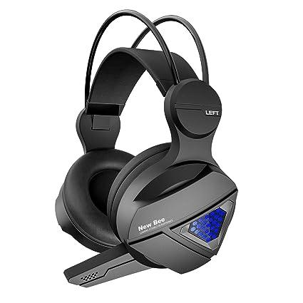 LanLan Auriculares estéreo inalámbricos con Bluetooth para Juegos HiFi con micrófono para PS4 Fortnite Xbox One