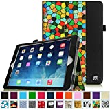 Fintie Apple iPad Air Folio Case - Slim Fit PU Leather Smart Cover with Auto Sleep / Wake Feature for iPad Air (iPad 5th Generation) 2013 Model, Stained Glass Black