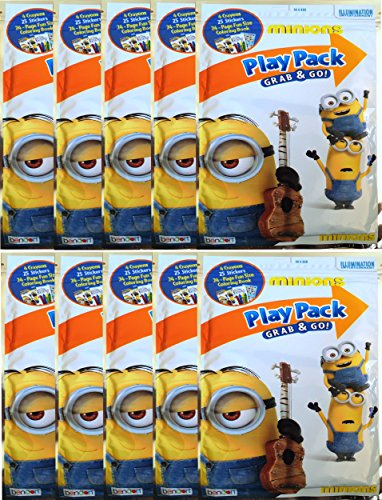 Minions Play Pack Grab and Go Coloring Book , Stickers and C