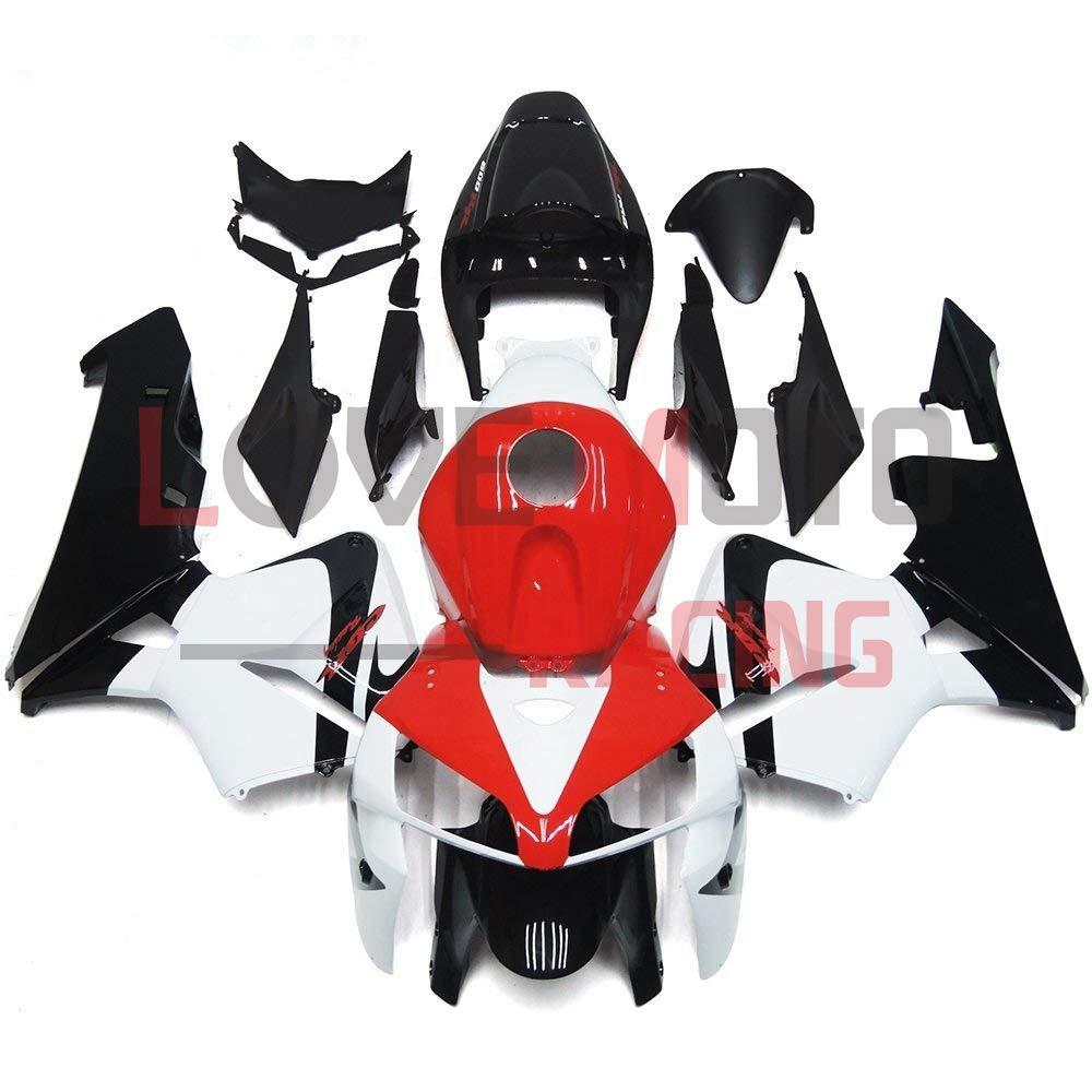 LoveMoto ブルー/イエローフェアリング ホンダ honda CBR600RR F5 2005 2006 05 06 CBR600 RR F5 ABS射出成型プラスチックオートバイフェアリングセットのキット レッド ブラック   B07KD3SR24