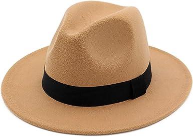 Fedoras Hat for Women Fashion Jazz Wool Casual Bowler Hat