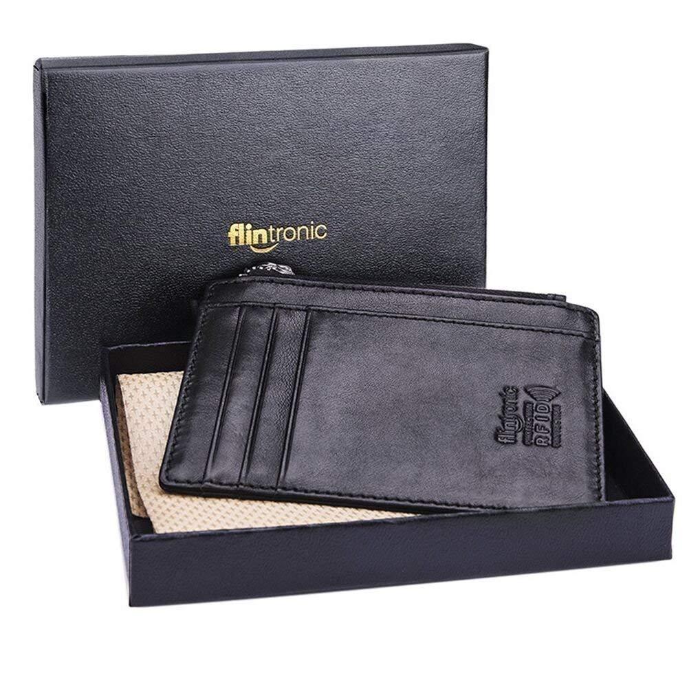 flintronic Billetera, Tarjetas de Crédito Slim 0.2cm, Moda RFID Bloqueo Monedero de Cuero