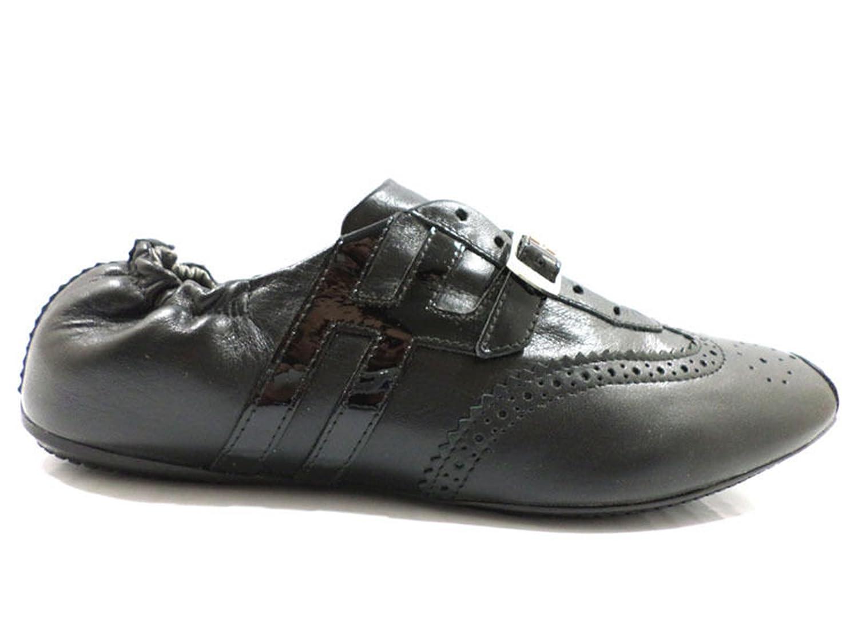 scarpe donna HOGAN sneakers nero pelle wh51