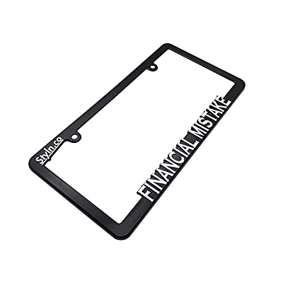 FINANCIAL MISTAKE License Plate Frame: Automotive [5Bkhe0803766]