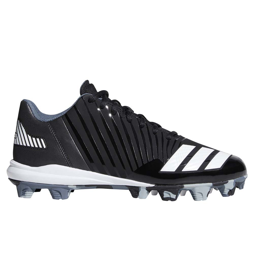 adidas Men's Icon MD Baseball Shoe, Black/White/Onix, 8.5 M US by adidas