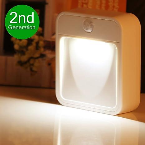 LE Luz nocturna LED - luz nocturna inalámbrica con sensor de movimiento, adhesivas y a pilas