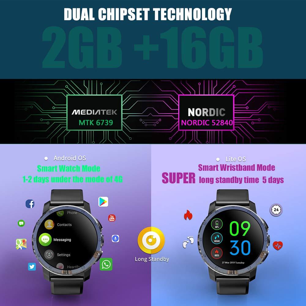 Nuevo Kospet Optimus Pro 4G LTE Reloj Inteligente 800mAh Batería ...
