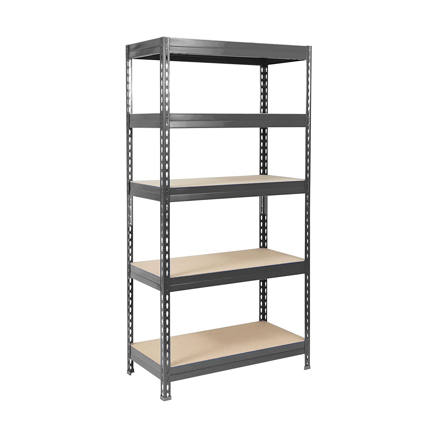 Black Mammut by Office Marshal Heavy-Duty Steel Shelving Capacity 875 kg 9 Sizes//4 Colours Available 90x180x60cm