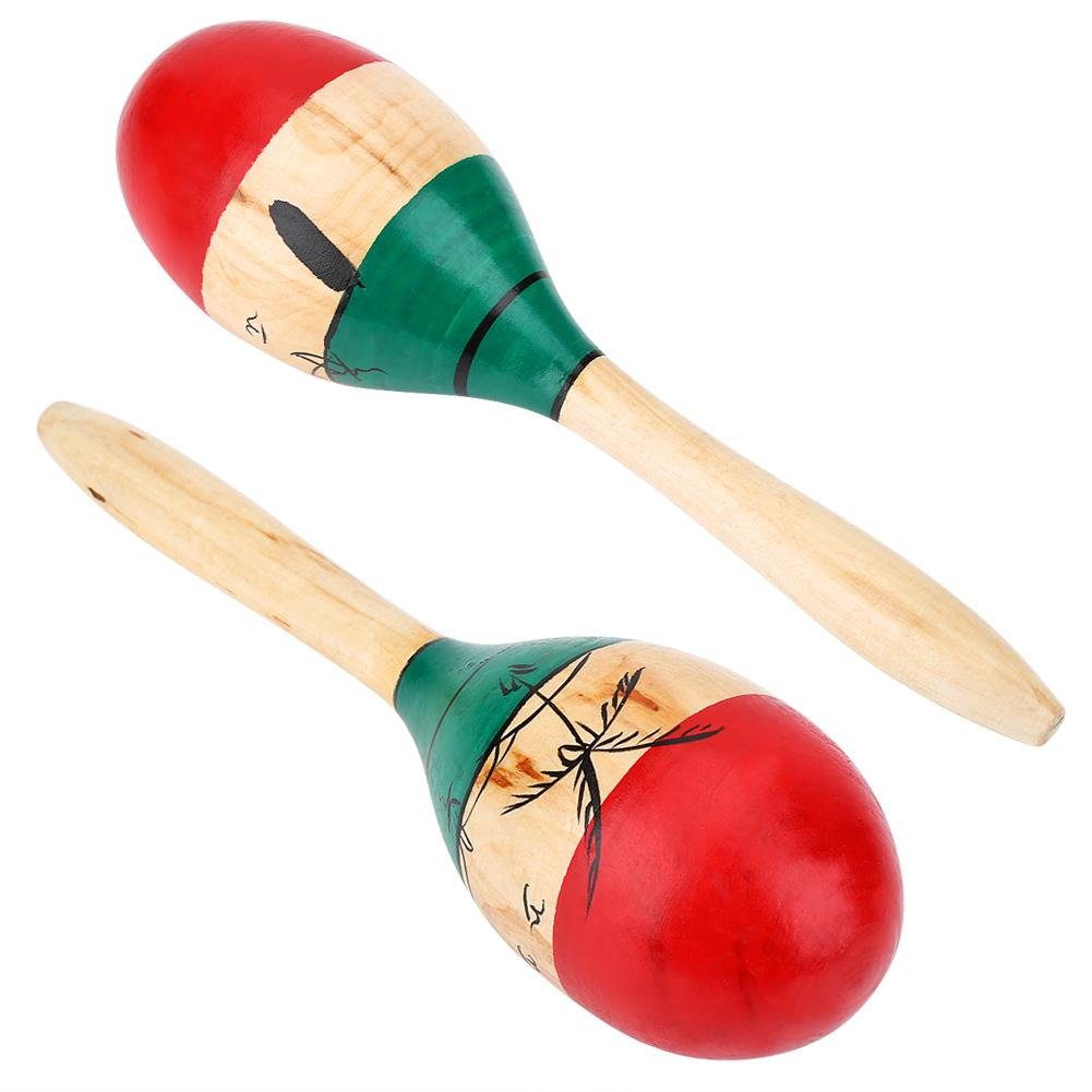 Wooden Fiesta Maracas Hand Percussion Instruments Toy for Children VGEBY 1 Pair Maracas