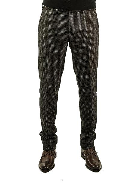 sporco molti stili buona consistenza Pantalone Sartoriale Germano Misto Lana Microfantasia 385-Cerchi ...