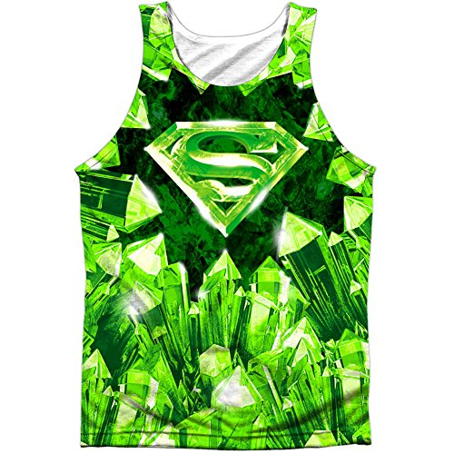 Superman+tank+tops Products : Superman Men's Kryptonite Shield Mens Tank White