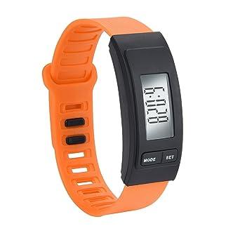 LEvifun Montre Unisexe Numérique LED Multifonction Podomètre Run Étape Marche Distance Calorie Counter Watch Bracelet en