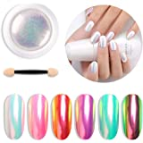 Niome 1 Box 0.3g Nail Art Powder Dust Trend Rainbow Effect Glitter Pigment Manicure Decoration DIY Tool