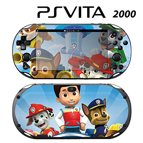 Skin Decal Cover Sticker for Sony PlayStation PS Vita Slim (PCH-2000) - Paw Patrol Ryder Marshall Chase Zuma Skye -  Decals Plus, PV2-CT18
