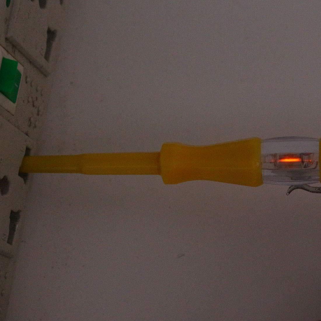 douille Sourcing map Tester Testeur de tension Tournevis Tube n/éon Crayon de test /électrosonde de circuit pour les /électriciens Tester fil /électrique interrupteur
