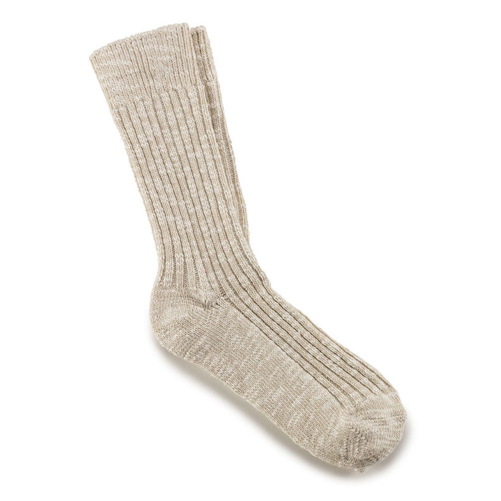 Birkenstock Arizona Soft Footbed Leather Sandal B071WMQ9DX Small|Beige/White