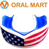 Oral Mart USA Flag Sports Mouth Guard for Kids/Adults - American Flag Sports Mouthpiece for Flag Football, Karate, Boxing, Sparring, Lacrosse, Rugby, Martial Arts,Taekwondo