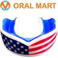 Oral Mart Adult Sports Mouth Guard (15 Best Colors, USA Flag, Vampire Fangs, MMA Champions) - Adult Mouthguard for Football, Boxing, Karate, Martial Arts, Rugby, MMA, Sparring, Hockey (/w Vented Case)