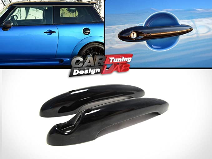 2 CarLab Black Keyless Entry Door Handle Cover Fits 2001-2013 R55 R56 R57 R58 R59