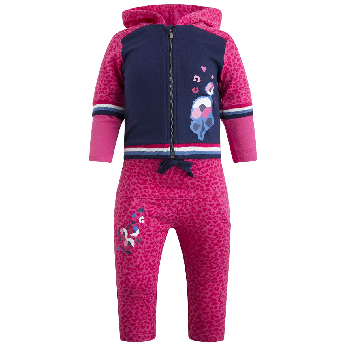 Tuc Tuc Pink Leopard Plush Tracksuit for Girl Dream in Pink