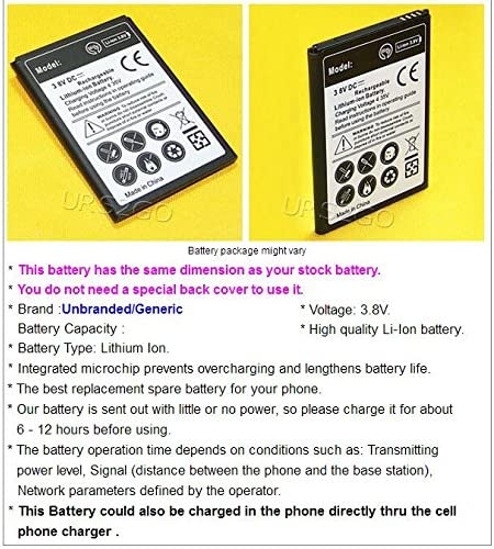 See Picture High Capacity 3000mAh Extended Slim Rechargeable A Battery for Straight Talk//TracFone//Net10 ZTE ZFive 2 LTE Z837VL Smartphone with Special Accessory