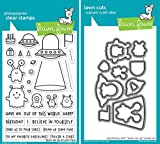 Lawn Fawn Beam Me Up Clear Stamp and Coordinating Die Set - 2 Piece Bundle (LF1597, LF1598)