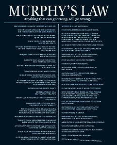 Murphy's Law (List) Art Poster Print - 16x20 Collections Mini Poster Print, 16x20