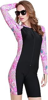 Fortuning's JDS®® Più Nuovi Manica Lunga Swimwear UPF 50+ Vestito di Nuoto per Le Vacanze estive