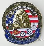 warrior car emblem - AMERICAN WARRIORS Car/Truck Grille Badge Emblem (3