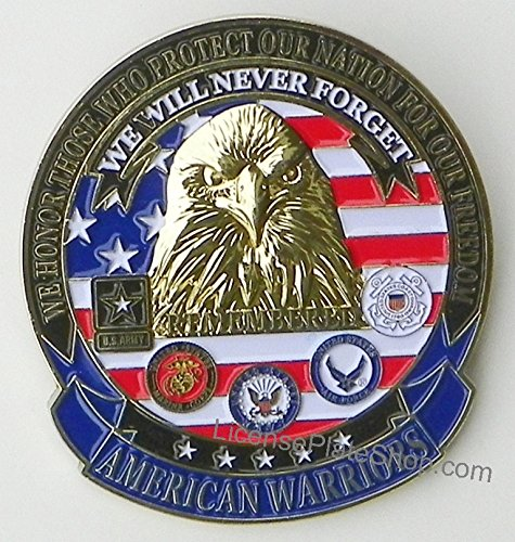 AMERICAN WARRIORS Car/Truck Grille Badge Emblem (3