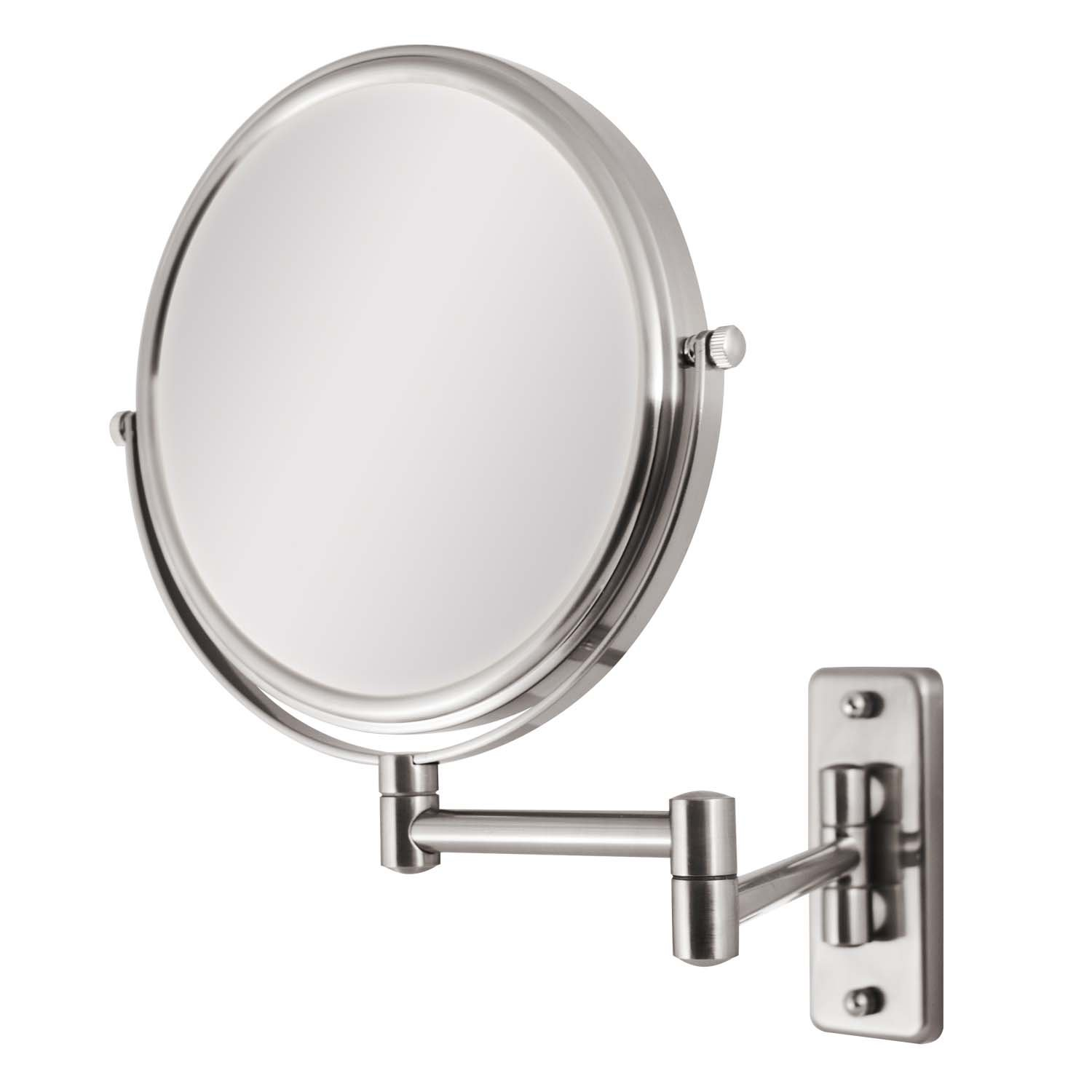 Amazon Zadro Two Sided Dual Arm Wall Mount Mirror Satin Nickel 5X 1X Beauty