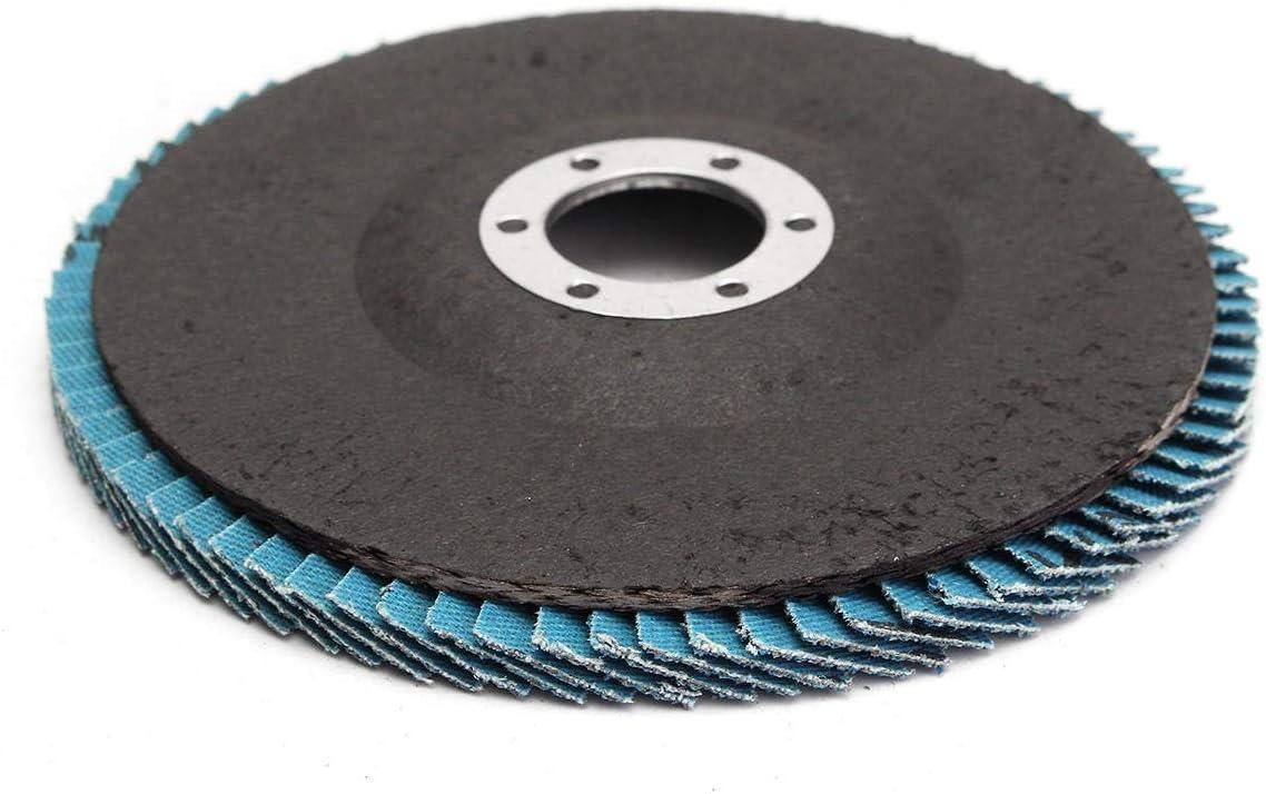 Dream Edge 40//60//80//120 Grit Grinding Wheel Flap Disc 115mm Angle Grinder Sanding Tool Abrasives Size : 40#