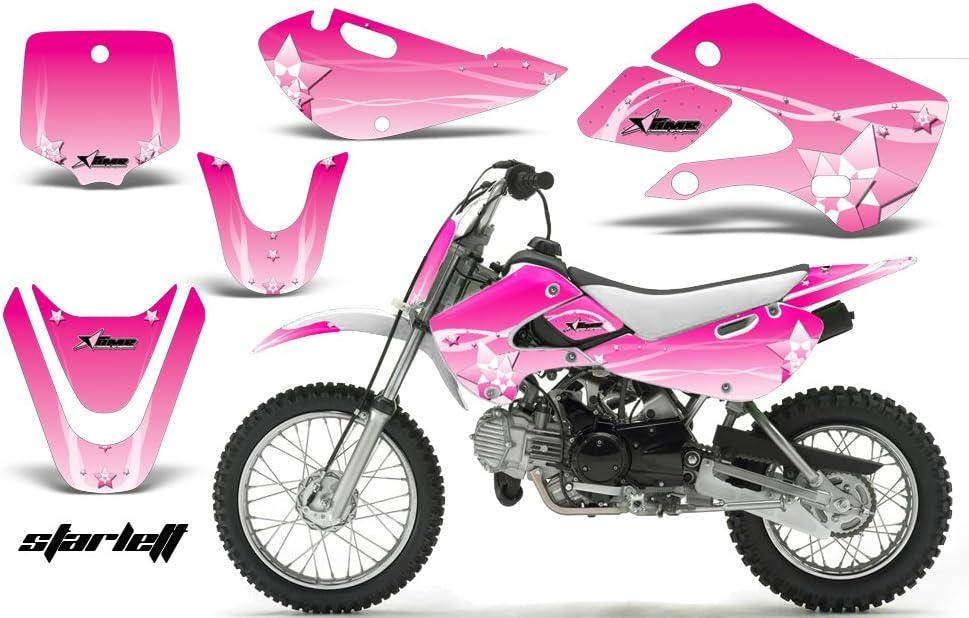 For KLX110 KX65 Plastic Fender Complete Fairing Gas Tank Seat Sticker Graphics