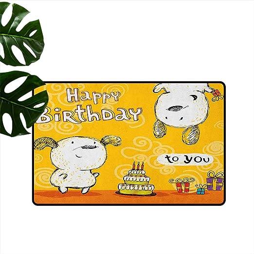 RenteriaDecor - Felpudo Universal para cumpleaños, diseño de ...