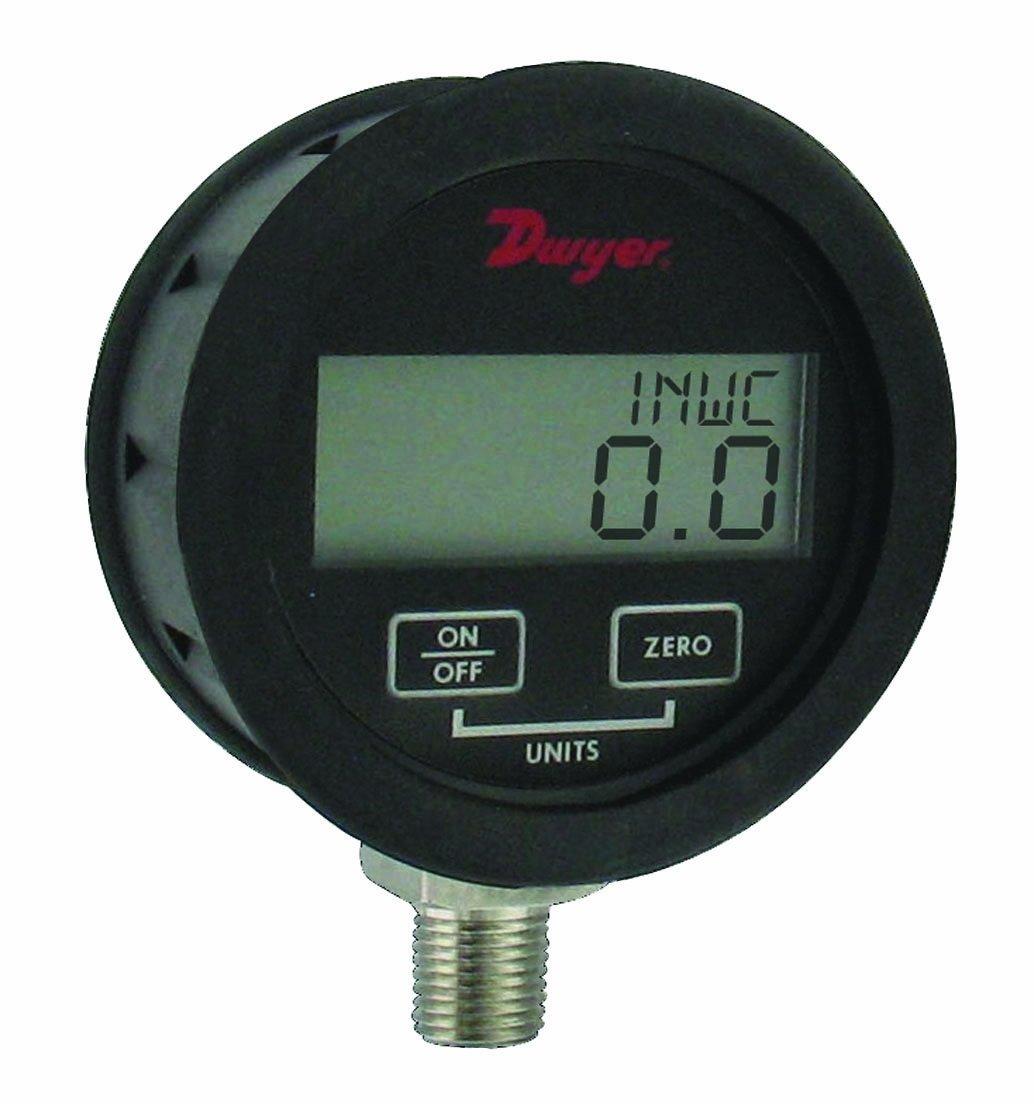 Dwyer DPGAB Series Digital Pressure Gauge with Boot, Water, Range 0 to 500 psig
