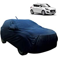 AllExtreme SF7006 Car Body Cover for Maruti Suzuki Swift Custom Fit Dust UV Heat Resistant for Indoor Outdoor SUV Protection (Blue with Mirror)