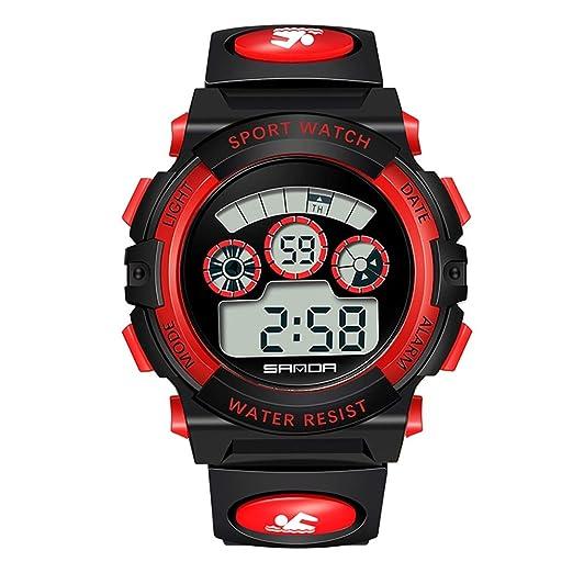 Kefaith Reloj para niños Reloj Deportivo de Cuarzo, Reloj de Cuarzo, 300 m, Impermeable, cronómetro Digital, para niños: los Mejores Regalos Regalo de niño ...