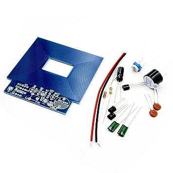 Vige Detector de Metales Simple Localizador de Metales Producción electrónica DC 3V - 5V DIY Kit Materiales respetuosos con el Medio Ambiente - Azul: ...