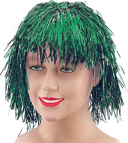 Tinsel. Green Wig (Green Tinsel Wig)
