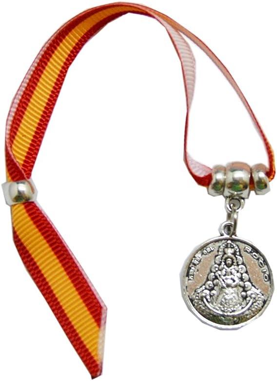 ALBERO Pulsera Virgen del Rocio España Redonda ZAMACK 14 cm: Amazon.es: Joyería