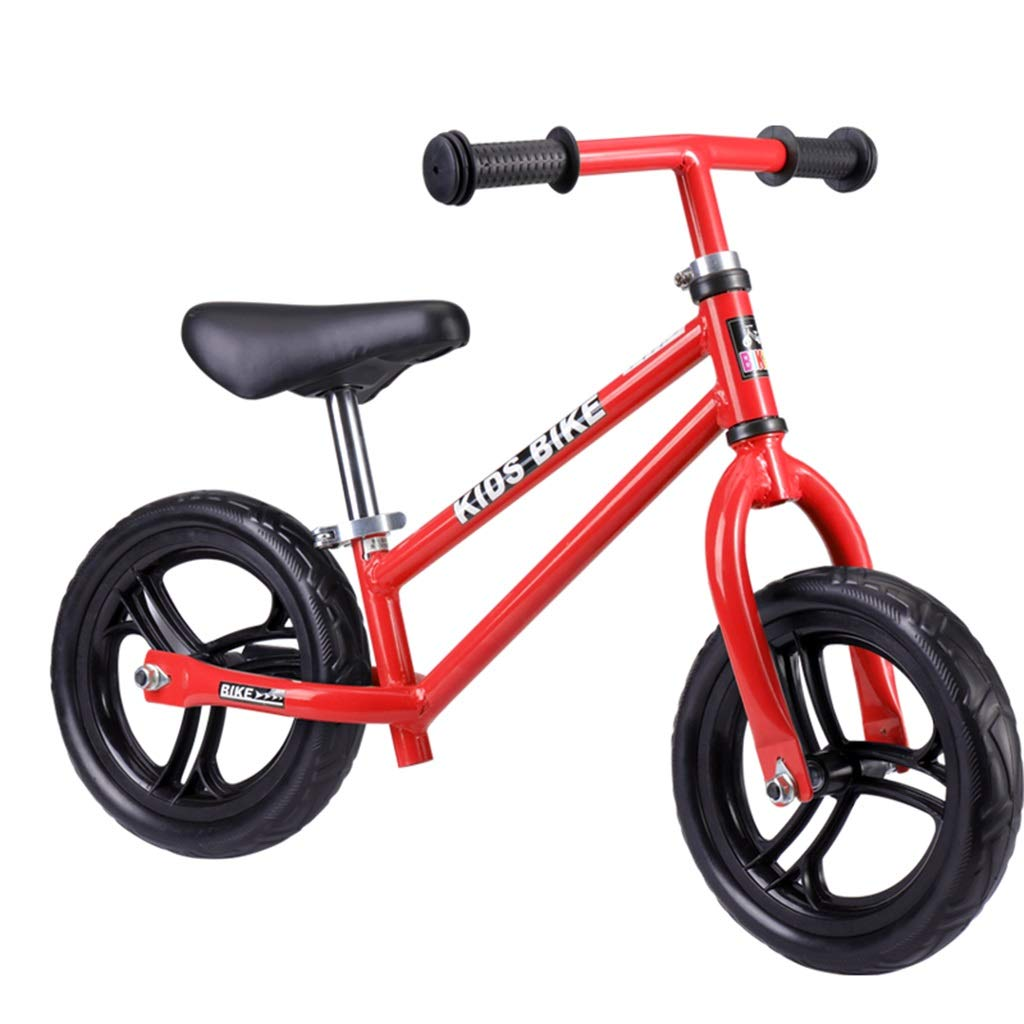rouge  Enfants   Bike, vélo léger sans pédale for Enfants avec Cadre en Acier au voiturebone, Guidon réglable et siège Bike vélo de poussée de Planeur
